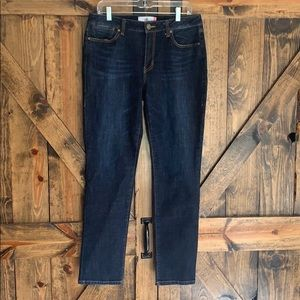Cabi dark wash straight high rise jeans size 10!